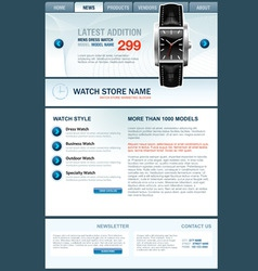 Watch store web template vector