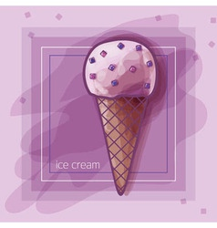 berry icecream vector image