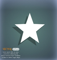 Star favorite icon symbol on the blue-green vector