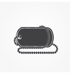 Dog tag chain detailed elements isolated object vector