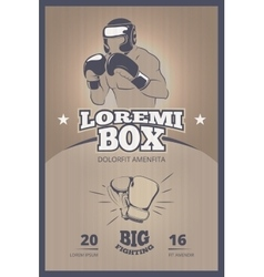Boxing competition vintage poster vector