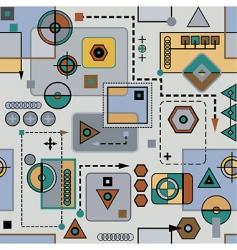 Mechanical seamless pattern vector