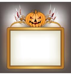 halloween background with killer pumpkin vector image