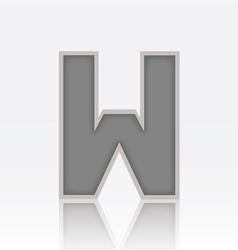 Alphabet W vector image
