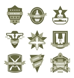 Army khaki emblems vector