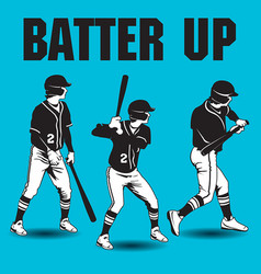 Batter up baseball artwork vector