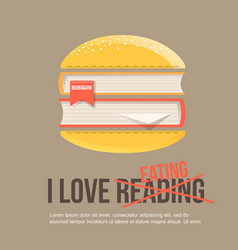 Books in hamburger icon in flat style vector