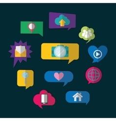 Bubbles social network design vector