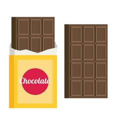 Chocolate flat style vector