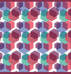 Color hexagon geometric pattern background vector