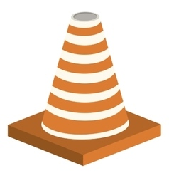 Cone construction isometric isolated icon vector