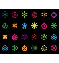 festive icons vector image vector image