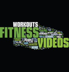Fitness text background word cloud concept vector