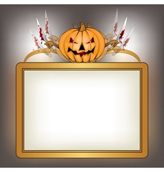 halloween background with killer pumpkin vector image vector image