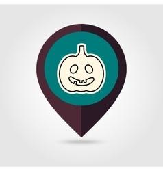 Halloween pumpkins mapping pin icon vector image vector image