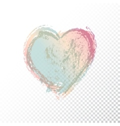 hand drawn watercolor heart vector image vector image