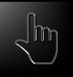 Hand sign gray 3d printed vector