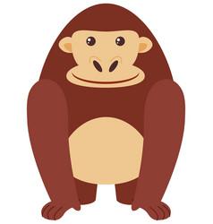 happy gorilla on white background vector image