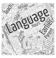 How to learn foreign language by training with vector
