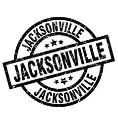 jacksonville black round grunge stamp vector image vector image
