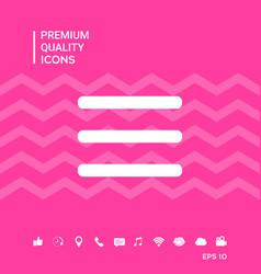 Menu symbol icon vector