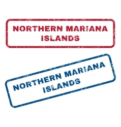 Northern mariana islands rubber stamps vector