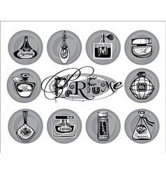 perfume bottle vector image