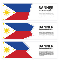 Philippines flag banners collection independence vector