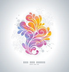 rainbow swirls vector image