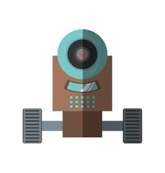 Robot surveillance machine information shadow vector
