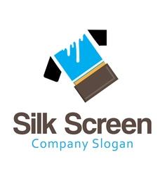 Silk screen design vector