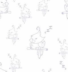Sleeping birds vector image