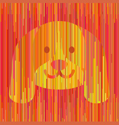 striped yellow dog vector image vector image