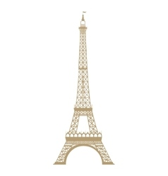tower eiffel isolated icon vector image vector image