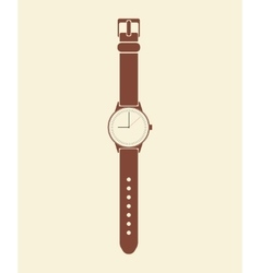 Trendy painted watch on a beige background vector image vector image