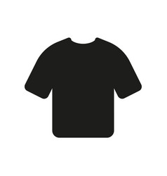 tshirt icon on white background vector image vector image