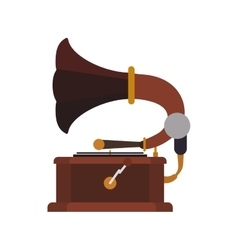 Gramaphone technology retro vintage icon vector