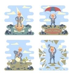 Business success concepts set vector image
