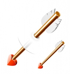 Cupid arrow vector