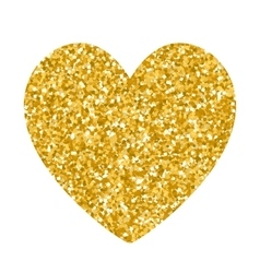 Valentines day glitter gold heart vector