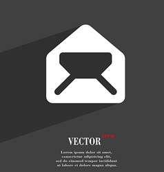 Mail envelope letter icon symbol flat modern web vector