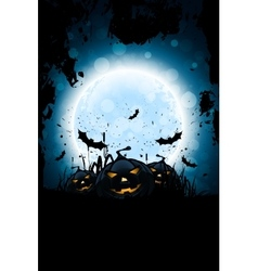 Grunge Halloween Party Background vector image