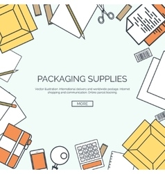 Lined packaging supplies vector