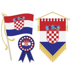 Croatia flags vector