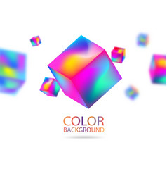 Abstract color 3d cubes with depth effect vector