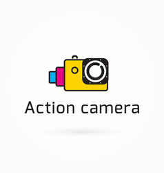 Action camera icon colorful logo template vector