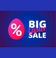 big easter sale vector image vector image