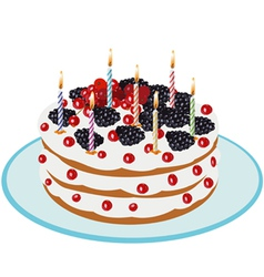 Birthday cake - vector