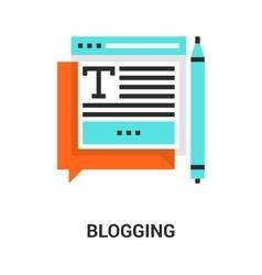 blogging icon concept vector image vector image