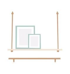 Bookshelf flat vector image